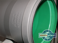 Труба 110х2,7х1000 ПП Европласт раструбная с уплотнительным кольцом для внутренней канализации серая, фото 1