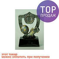 Статуэтка - Футбольный Кубок - Щит с бутсой и мячом, серебро / Интерьерные аксессуары - статуэтки