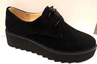 Туфли женские закрытые замша 0306УКМ