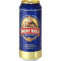 Пиво светлое Smadny Mnich 0,5 банка