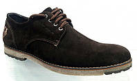 Туфли мужские замша коричневые 0002ТОМ