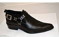 Туфли казаки мужские кожа черные, коричневые 0019БМ