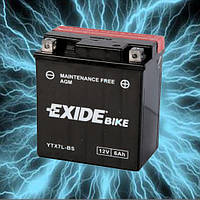 Аккумулятор мотоциклетный 6Ah 100A EXIDE ETX7L-BS = YTX7L-BS