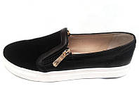 Туфли-слипоны, мокасины женские замша кожа 0019ООГМ