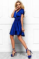 Летнее Очень Легкое Платье Невесомое Солнце-Клеш Синее р. S M L XL