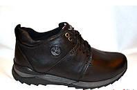 Ботинки мужские зимние кожа черные 0014ТМ