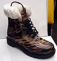Женские стильные резиновые ботинки силиконовые 0138КФМ