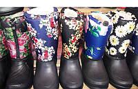 Женские резиновые сапоги-дутики разные цвета 0137УКМ