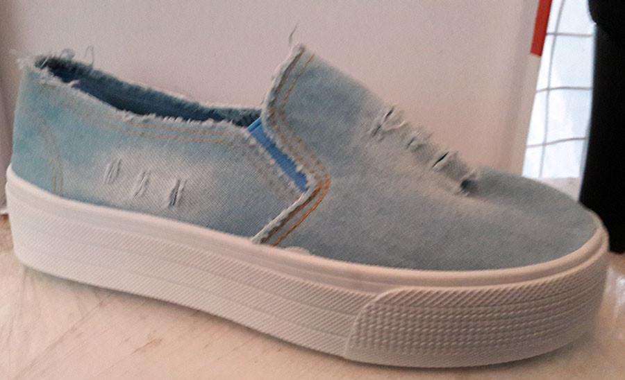 4aefa48d1 Слипоны женские джинсовые светлые 0190КФМ, цена 750 грн., купить в ...