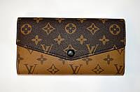 Женский кожаный кошелек конверт LV