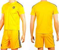 Детско-подростковая (6-16 лет) футбольная форма без номера - сборной Украины (2016) - жёлтая, домашняя