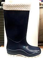 Женские резиновые сапоги высокие с утеплителем 0013РСМ