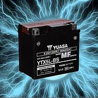 Аккумулятор мотоциклетный 4Ah 80A YUASA YTX5L-BS