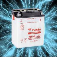 Аккумулятор мотоциклетный 14Ah 175A YUASA YB14L-A2