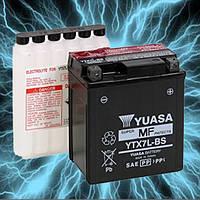 Аккумулятор мотоциклетный 6Ah 100A YUASA YTX7L-BS