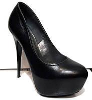Туфли женские на шпильке кожаные 0070СОМ