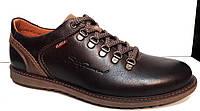 Туфли мужские кожа натуральная коричневые 0003БУМ