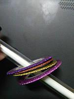 Ленты для дизайна ногтей цвета в ассортименте 1 мм