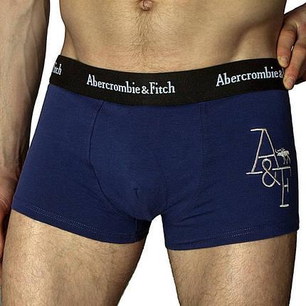 Мужские трусы боксёры Abercrombie&Fitch (реплика) чёрные , фото 2