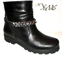 Ботинки женские замшевые и кожаные 0213УКМ