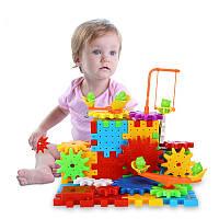 Конструктор с шестеренками музыкально световой Building block 81 деталь (Билдинг блок), фото 1