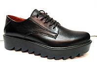 Туфли женские закрытые на тракторной платформе  0237 УКМ
