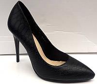 Туфли женские на шпильке кожа питона 0303КФМ