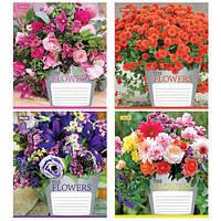 Тетрадь в клетку 96 листов 760107 «Flowers bouquet»