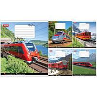 Тетрадь в клетку 96 листов 760156 «Trains&Nature»