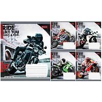 Тетрадь в клетку 24 листа 760220 «Moto Ride»