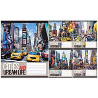 Тетрадь в клетку 96листов794791«Urban Life» Зошит Украины