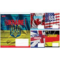 Тетрадь в клетку 48 листов 760276 «Флаги»