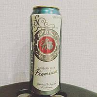 Пиво светлое Zahringer Premium 0.5 банка