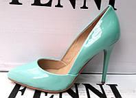 Туфли лодочки лаковые на шпильке разные цвета  0007ФМ