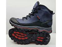 Ботинки мужские зимние натуральная кожа/нубук чёрные, синие, коричневые 0317УКМ