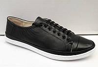 Мокасины женские кожаные чёрные 0329УКМ