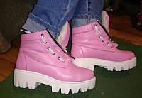 Ботинки женские стильные зимние кожаные 0038АЛМ