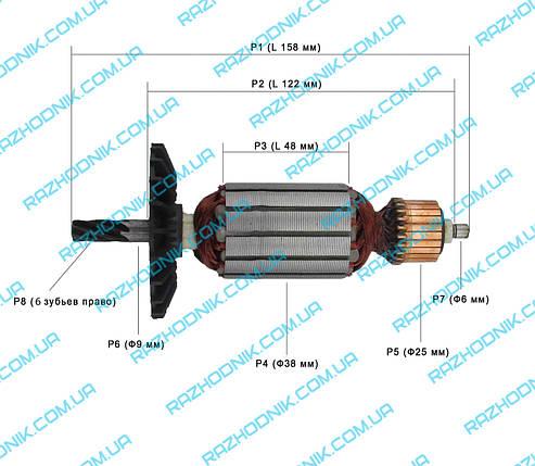 Якорь на дисковую пилу Фиолент ПД4-54, фото 2
