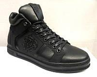 Ботинки-кеды мужские зимние кожаные 0006КПМ