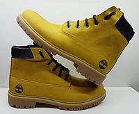 Ботинки мужские зимние/демисезонные нубук желтые 0034ТМ