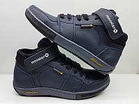 Ботинки демисезонные подростковые кожаные синие 0389УКМ