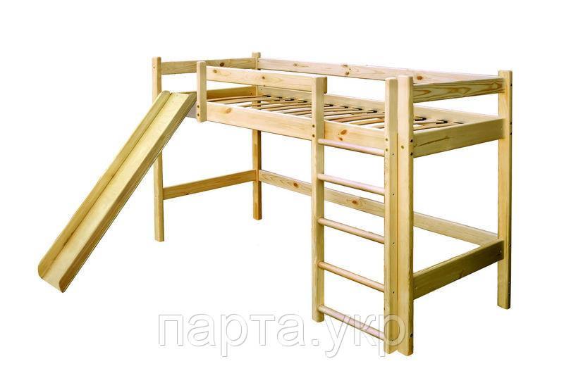 Детская кровать горка (из сосны)