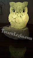Лампа из соли - Совенок на пеньке (3,5 кг)