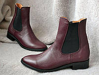 Ботинки женские без каблука весна-осень из кожи и замши разные цвета 0020АВМ