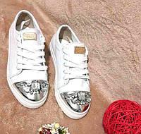 Слипоны женские кожаные на шнуровке купить в Украине 0018НКМ