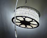 Светодиодная лента LED 5730-72 220V IP68 Холодно-белая (СТАНДАРТ) Очень яркая