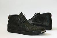 Слипоны мужские натуральная кожа на шнуровке 0417УКМ