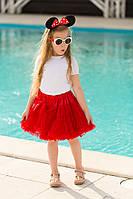 Юбка американка. Красная многослойная. Очень пышная и стильная.