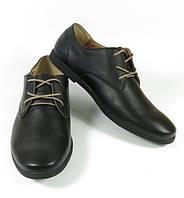 Мужские туфли чёрные кожа 0001АФМ
