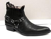 Туфли мужские кожаные чёрные 0035БМ